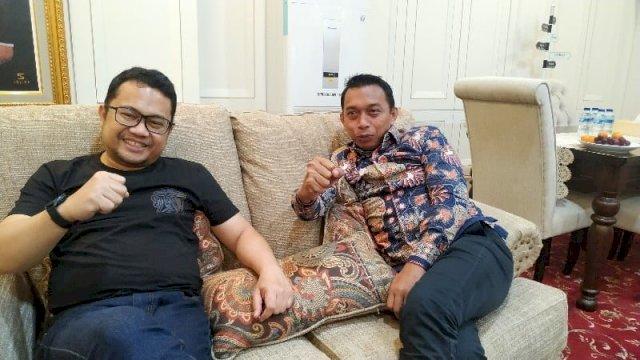 Sekretaris Nasdem Syaharuddin ALrif dan Sekretaris Gerindra Darmawangsyah Muin