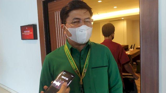 Ketua DPW PPP Sulsel M Aras Saat memberikan keterangan terkait Dukungan PPP Sulsel di Muktamar ke IX