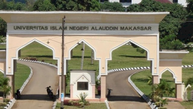 Gerbang kampus UIN Alauddin Makassar, di Kabupaten Gowa, Sulsel