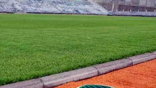 Sebagai ilustasi—Foto ini adalah lapangan sepak bola Stadion Kebo Giro di Desa Paras Kecamatan Cepogo, Kabupaten Boyolali, di Jawa Tengah.