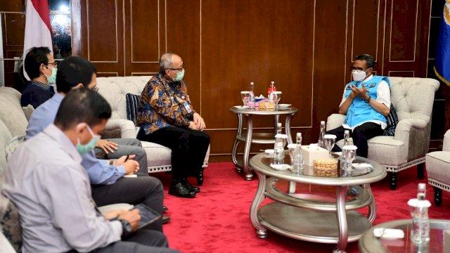 Gubernur Terima Kunjungan Budi Hanoto sebagai Kepala Perwakilan BI Sulsel