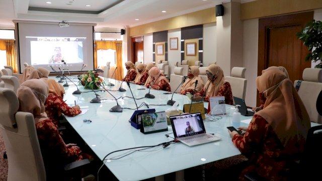 Seminar nasional di lingkup kampus UIN Alauddin Makassar terkait pencegahaan kekerasan seksual.