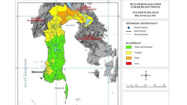 Hari Ini, Status SIAGA Cuaca Ekstrim di Luwu Utara. Waspada di Enam Wilayah Ini