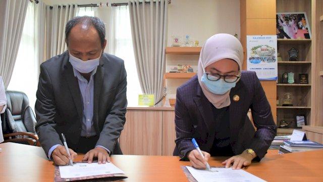 Bupati Luwu UTara Indah Putri Indriani Menandatangani kerjasama