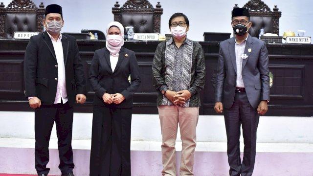 Pasangan Bupati dan Wakil Bupati Luwu Utara Indah Putri Indriani _Suaib Mansyur Usia ditetapkan Disahkan DPRD Sebagai Kepala daerah terpilih