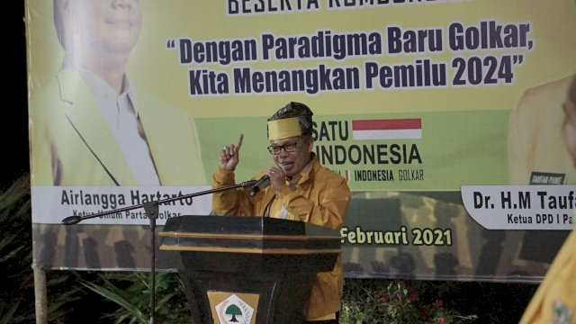 Ketua DPD I Golkar Sulsel Taufan Pawe