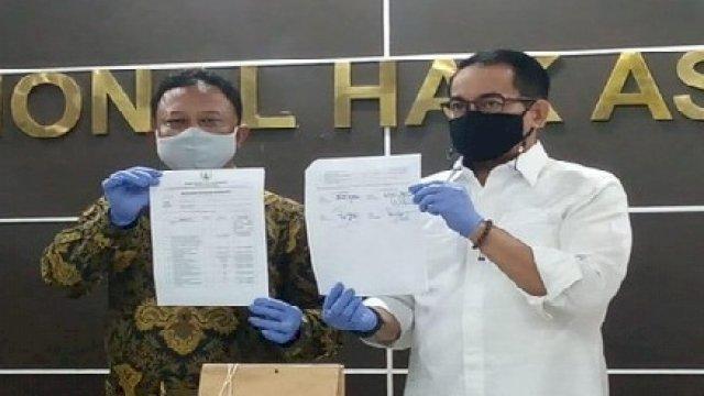 Penyerahan Barang Bukri dan rekomendasi Komnas HAM Atas Kasus KM5 0