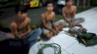 3 Pemuda Ini Ditangkap karena Diduga Curi Kabel PLN