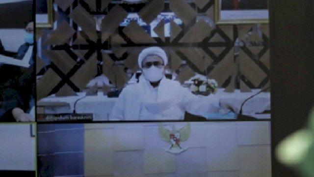 Sidang Virtual PN Jakarta yang dihadiri Habib Rizieq (Int).