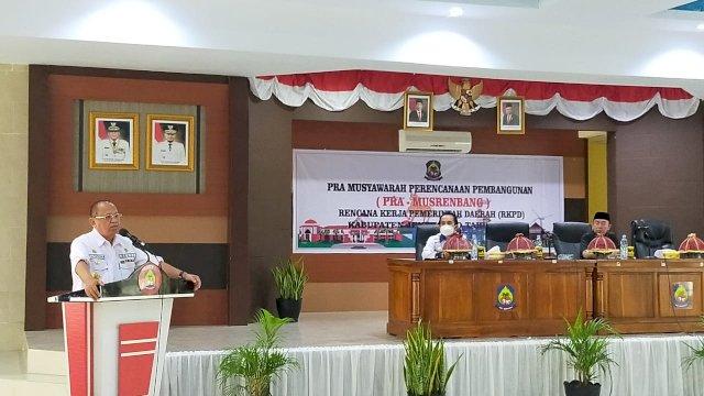 Sekda Jeneponto Syarifuddin Nurdin, di ruang pola panrannuanta, Rabu. (31/3/2021).