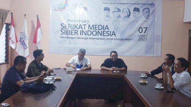 Komisaris Utama Jasa Tirta Energi, Didi Muhammad Rosidi berkunjung ke kantor pusat Serikat Media Siber Indonesia (SMSI) di Jl Veteran II No 7C-Jakarta, Rabu sore (7/4/2021), diterima langsung oleh Ketua Umum SMSI Pusat, Drs. Firdaus, M.Si