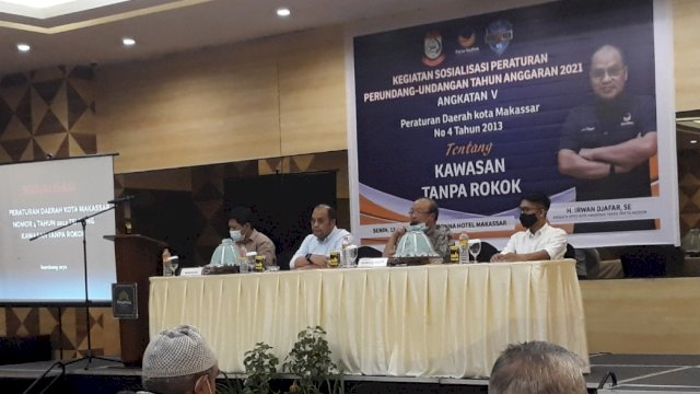 Legislator NasDem Irwan Djafar Sosialisasi Perda Kawasan Tanpa Rokok