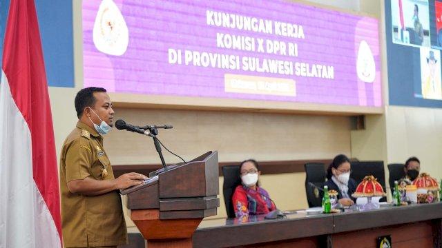 ASS Terima Rombongan Komisi X DPR RI di Kantor Gubernur Sulsel