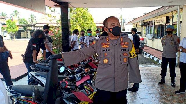 Kapolres Sinjai Pimpin Press Release Pengungkapan Kasus Curanmor