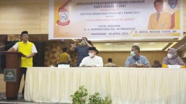 Wahab Tahir Beri Pemahaman Masyarakat Tentang Perda nomor 1 Tahun 2012