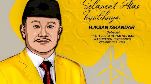 Iksan Iskandar Ketua Golkar Jeneponto