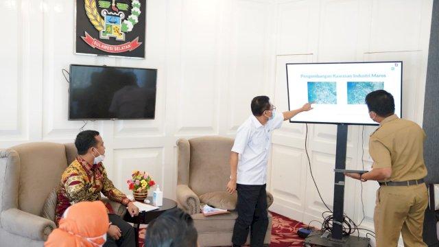 Terima PT KIMA, Plt Gubernur Dorong Upaya Pengembangan Kawasan Industri di Maros