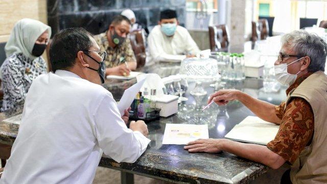 Hadirkan Kenyamanan Masyarakat, Juru Sembelih Halal Sulsel Temui Wali Kota Makassar