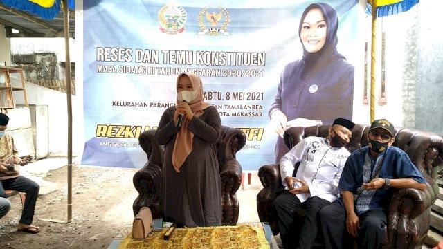 Anggota DPRD Sulsel Rezki Mulfiati Lutfi Kembali melakukan Reses Masa Sidang Ke III