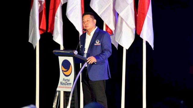 Ketua DPW Nasdem Sulsel Rusdi Masse Membawa Materi pada Rakorwil Nasdem Sulut
