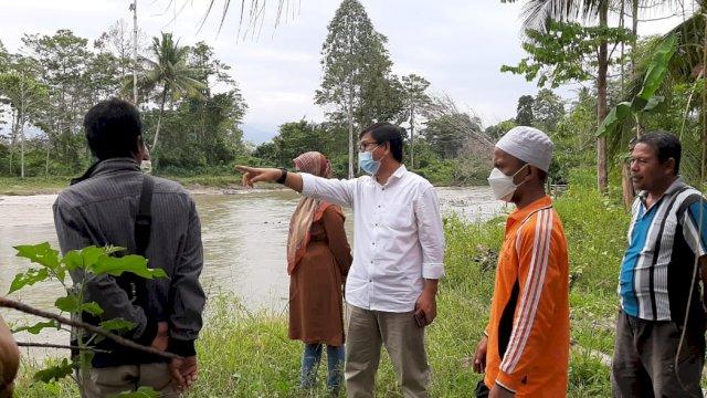 Tebing Sungai Masamba Desa Laba Terus Terkikis, Wabup Suaib; Segera Dilakukan Normalisasi