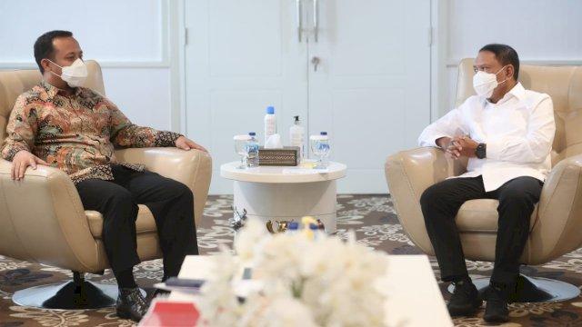 Pelaksana Tugas Gubernur Sulawesi Selatan (Sulsel), Andi Sudirman Sulaiman, menemui menteri Pemuda dan Olah Raga (Menpora) untuk membahas kelanjutan pembangunan Stadion Mattoangin.