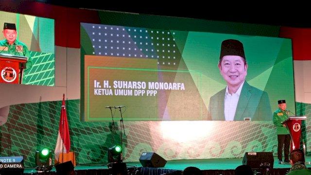 Ketua Umum PPP Suharso Monoarfa Saat Memberikan Sambutan pembukaan Muswil Ke VIII
