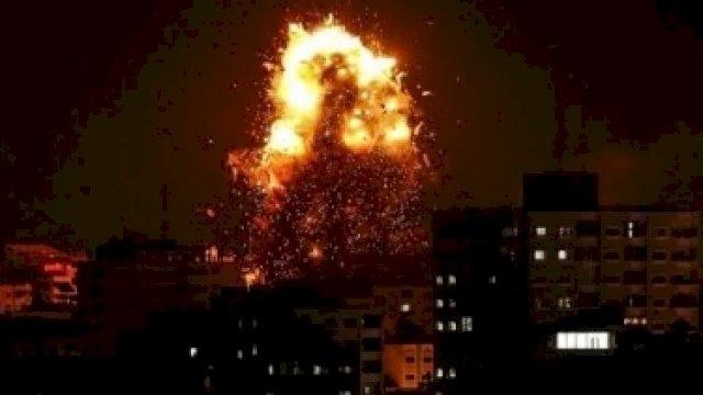 Stasiun televisi Hamas, Al-Aqsa, menjadi salah satu sasaran serangan Israel. [Getty Image]