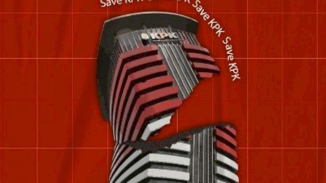 Ilustrasi Gedung KPK yang dibuat oleh Koalisi Save KPK.