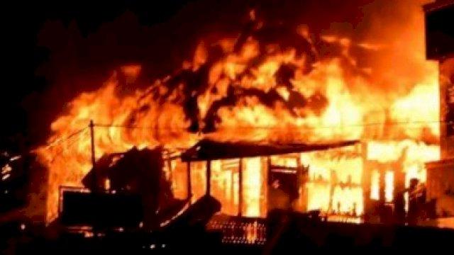 Ilustrasi sebuah kebakaran.