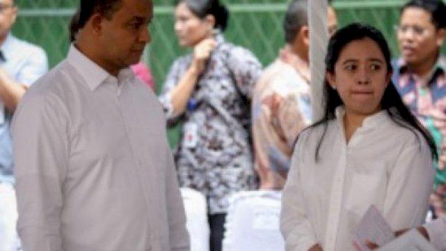 Anies Baswedan bersama Puan Maharani.