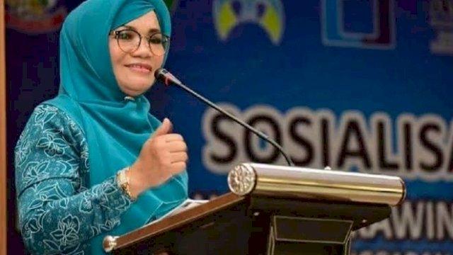 Liestiaty Istri Tersangka Nurdin Abdullah