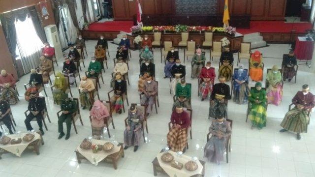 Upacara virtual peringatan Harlah Pancasila yang diikuti oleh jajaran Pemkab Sinjai.