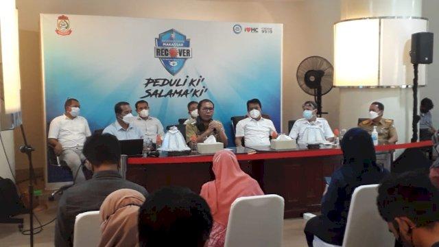 Konferensi Pers di Bali Kota pada Senin, 31 Mei 2021.