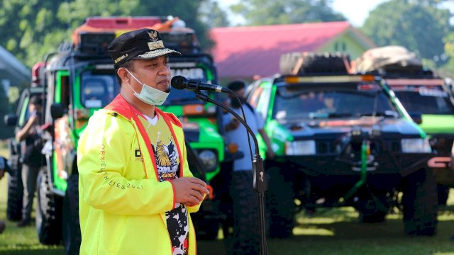 Lepas Peserta South Celebes ORX 7th, Plt Gubernur Sulsel Ingatkan Jaga Keselamatan dan Edukasi Prokes