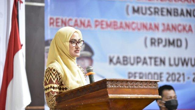 Bupati Luwu Utara Indah Putri Indriani Menghadiri Mustembang RPJMD Pemda Luwu Utara