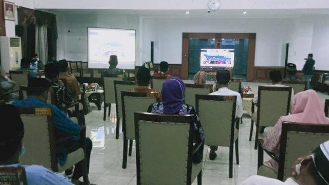 Pembukaan STQH tingkat Provinsi secara daring.