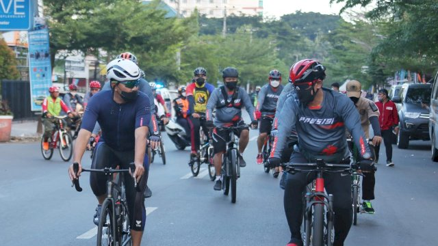 Danny Jalin Silaturahim Bersepeda Santai Bersama Forkopimda
