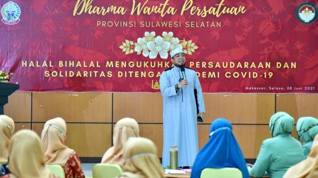 Naoemi Octarina Hadiri Halal Bihalal Dharma Wanita Persatuan Provinsi Sulsel