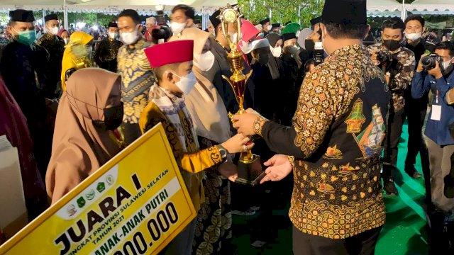 Raih Juara I Tilawah Anak, Kabupaten Luwu Masuk 10 Besar Pada STQH XXXII Di Sidrap