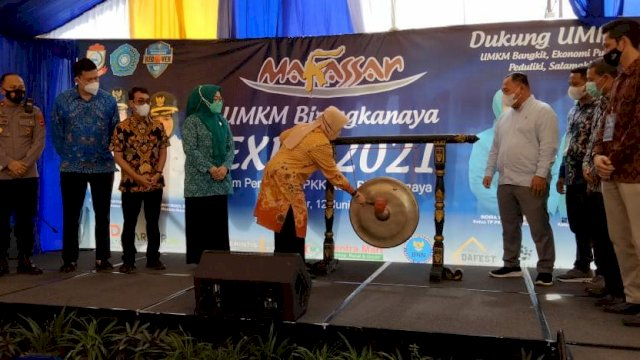Ketua TP PKK Makassar, Resmi Buka UMKM Biringkanayya Expo 2021
