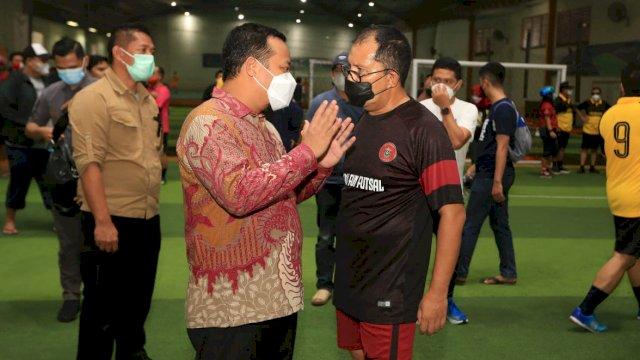 Keseruan Bermain Futsal Versi Wali Kota Makassar, Sportifitas Penting Silaturahmi Utama