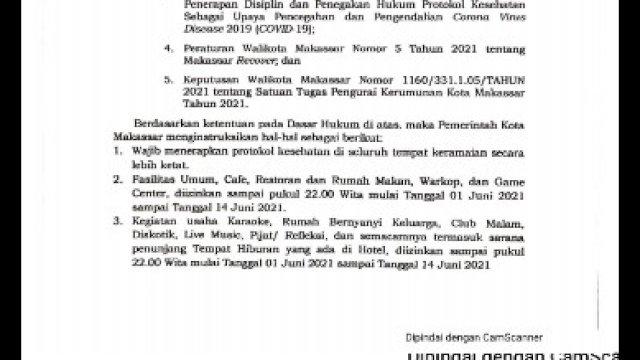 Surat Edaran Pemkot Makassar.
