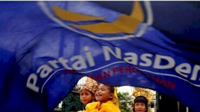 Bendera Partai NasDem. (Antara).