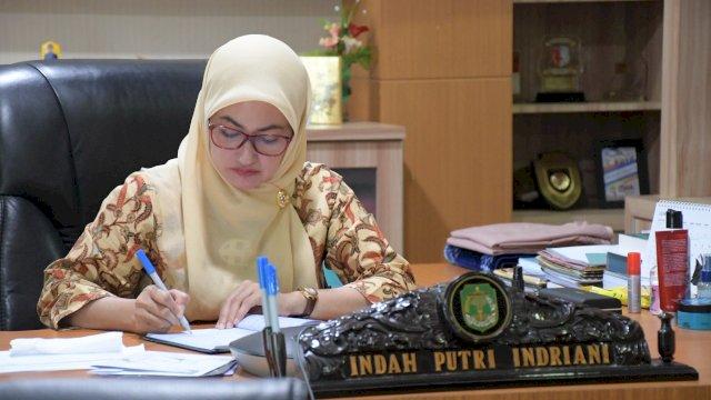 Bupati Luwu Utara Indah Putri Indriani Mengikuti Arahan mendagri tentang Pemulihan Ekonomi