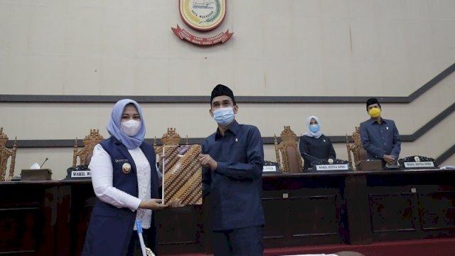 DPRD Kota Makassar melaksanakan Rapat Paripurna yang ke 11 Masa Sidang Kedua tahun sidang 2020-2021, Rabu (14/04/2021)