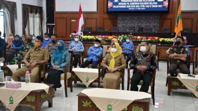 Pemkab Sinjai Silaturahmi dengan Plt Gubernur Via Virtual