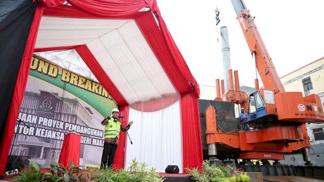 Walkot Hadiri 'Ground Breaking' Pembangunan Gedung Kejari Makassar