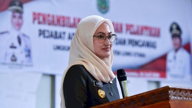 Bupati Luwu Utara Indah Putri Indriani mengukuhkan dan melantik 199 pejabat administrator dan pengawas lingkup pemerintah daerah kabupaten Luwu Utara. Pelantikan ini digelar dengan sistem blended di sembilan titik.