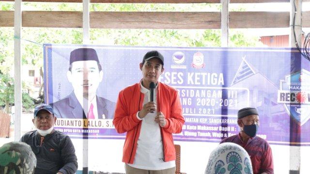 Ketua DPRD Makassar Rudianto Lallo. (Trotoar/Alam).